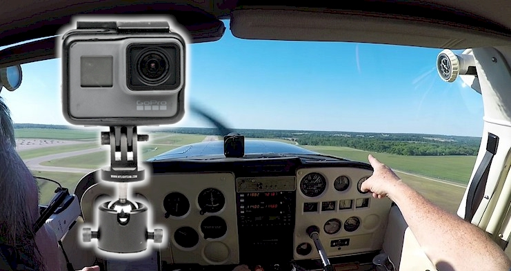 Shoot video from your Airplane - GoPro, SmartPhone, Garmin Virb