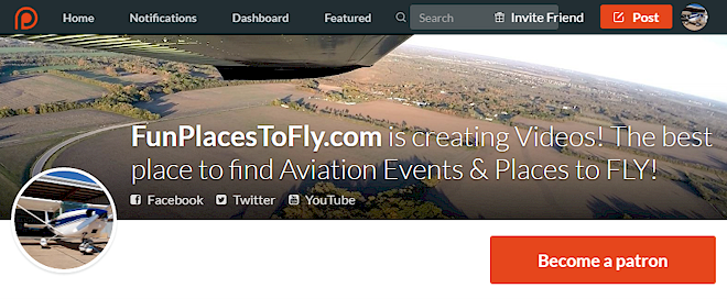 Patreon Aviation Places to Fly Aviation Events Videos News Airport Search