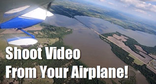 GoPro Garmin Virb shoot video from your airplane